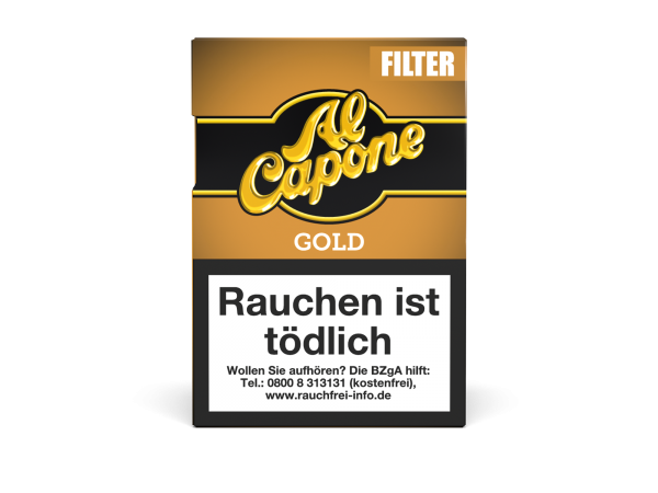 Al Capone Pockets Gold Filter Zigarillos