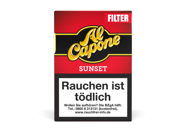 Al Capone Pockets Sunset Filter Zigarillos